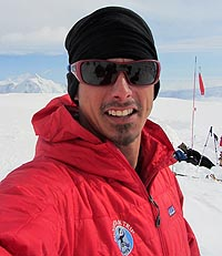 Mike Thurk at the 14,200' camp on Denali