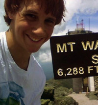 Nick on Mt Washington