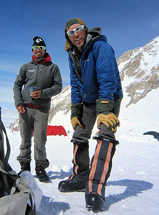 "Mike Thurk and Peter ""Pi"" Inglis at 14 Camp on Denali"