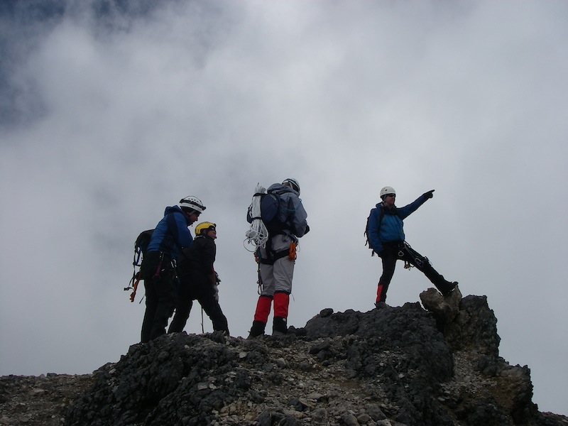 Climbers Enjoying the Summit of Carstensz Pyramid