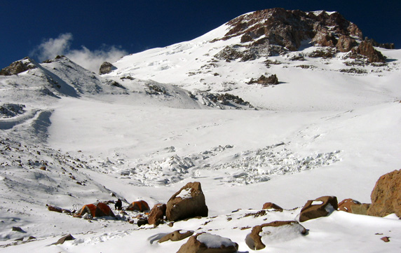 View of Aconcagua from C2