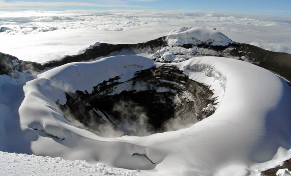 The summit crater of Cotopaxi