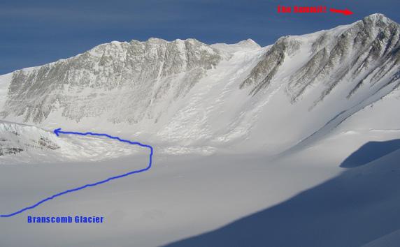 Branscomb Glacier and MT Vinson