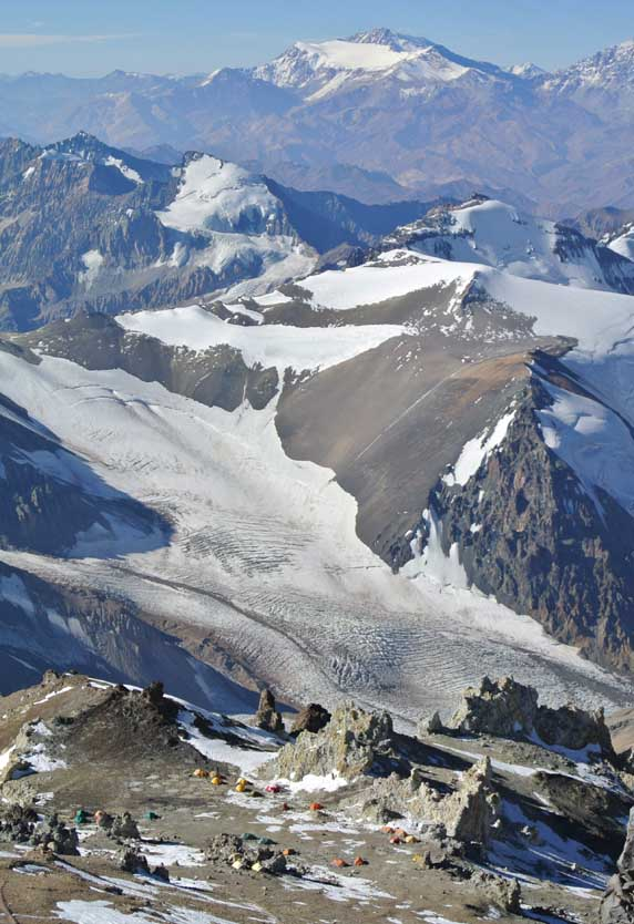 Aconcagua C3 from above