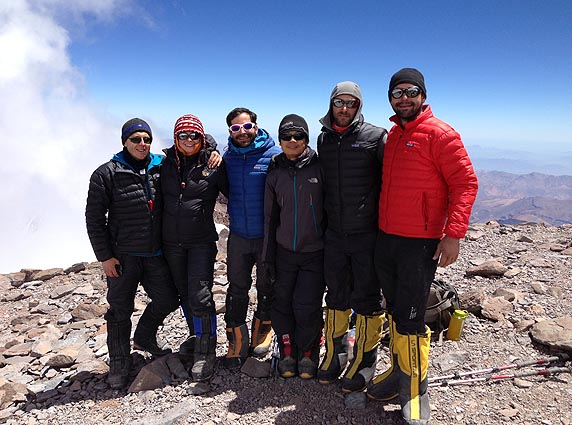 Aconcagua Dec 23 on the summit