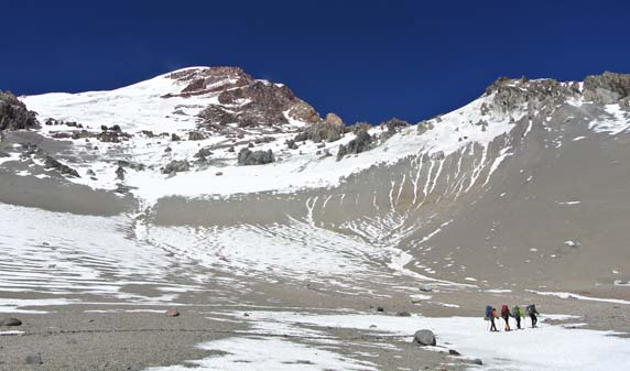 Aconcagua hiking to C3