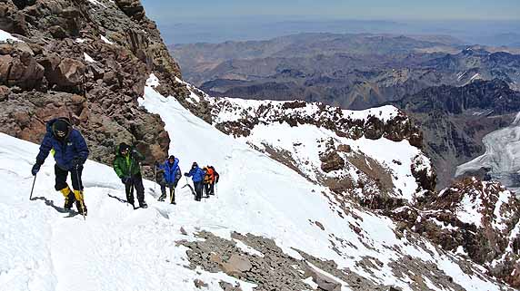 Aconcagua top of canaleta