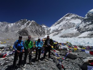 Team Members Arriving into Base Camp