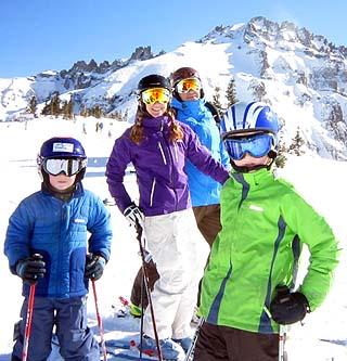 Dalton, Lisa, Todd and Logan enjoying winter in SW Colorado.