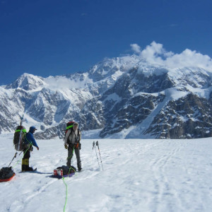 Denali Guides on the Kahiltna Glacier