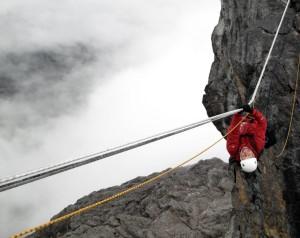 Tyrolean Traverse on Carstensz Pyramid