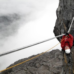 Tyrolean Traverse on Carstensz Pyramid