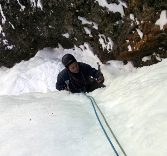 Colorado Ice climbing on The Ribbon
