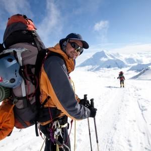 Denali big load on lower glacier