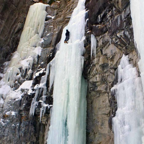 Ice routes of all sizes and grades