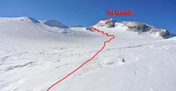 Vinson summit route