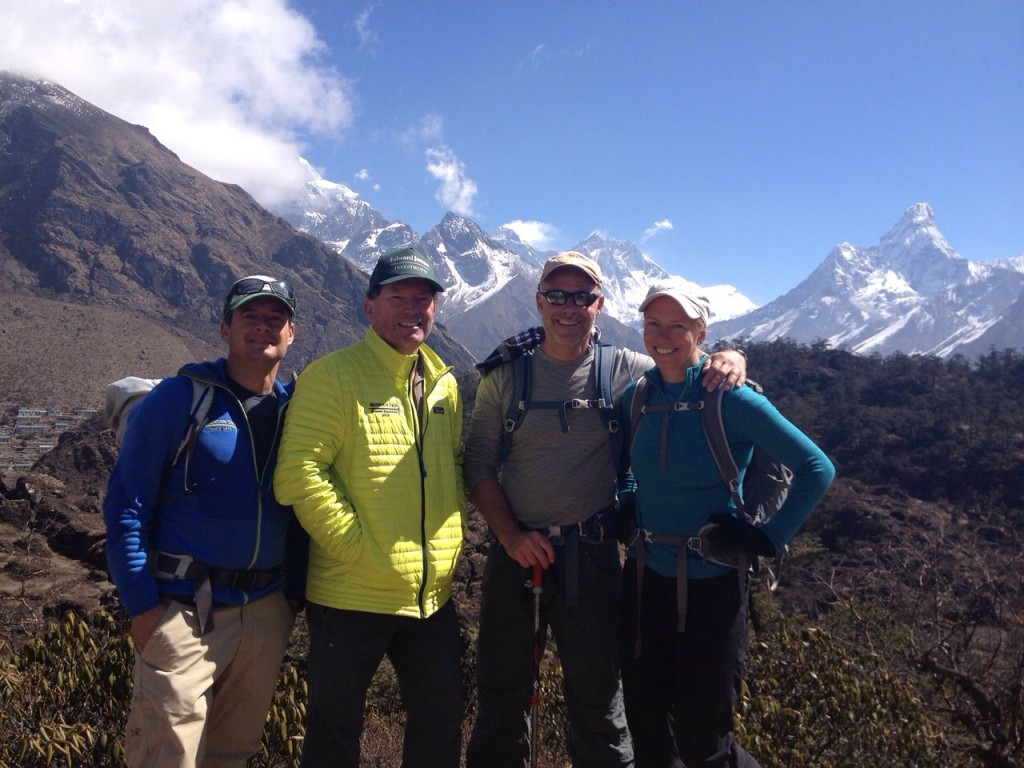 Above Namche with Everest and Ama Dablam in the background