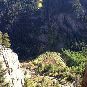Cracked Canyon, Telluride rock climbing