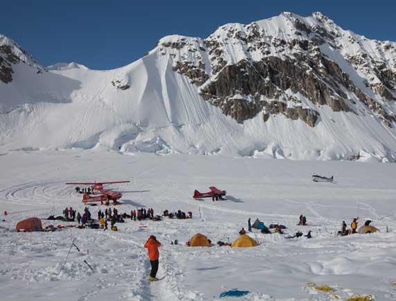 Denali base camp