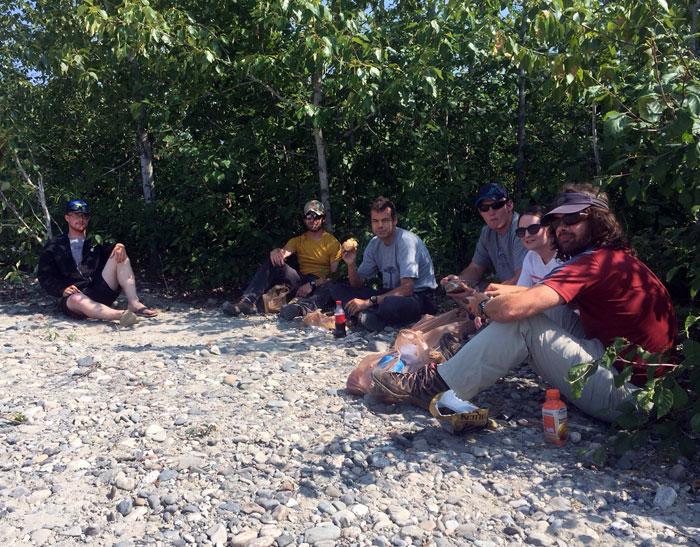 June 23 Team enjoying lunch in Talkeetna