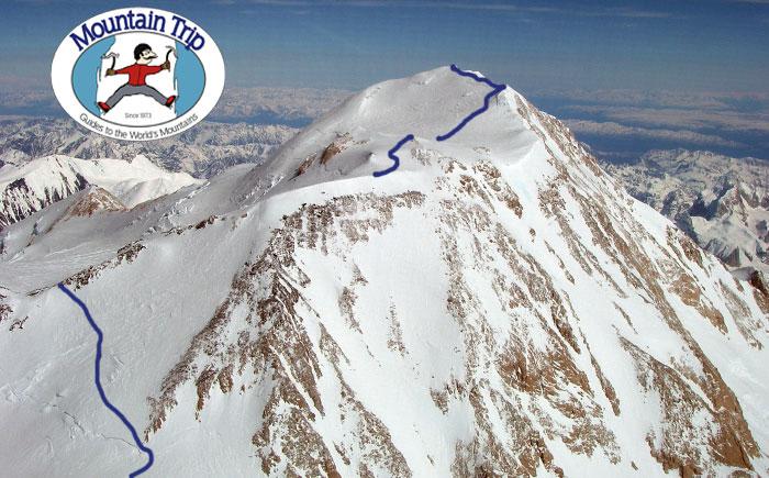 denali summit map