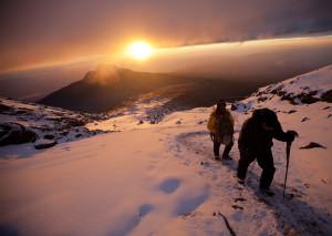 Kilimanajaro climbers on summit day