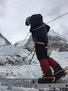 greg in khumbu icefall