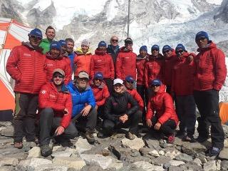 MT Team at Everest base camp