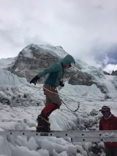 vanessa in khumbu icefall