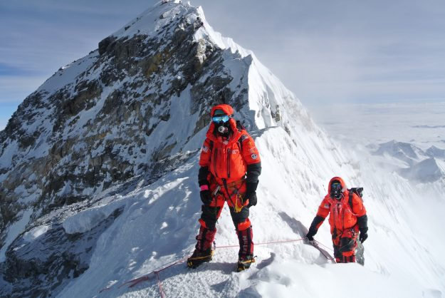 Summit Ridge Mount Everest Climbers