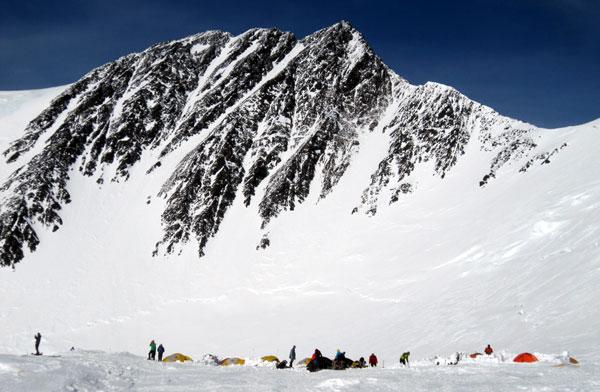 Denali pass from high camp