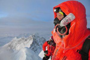 Climber Near the Summit of Mount Everest