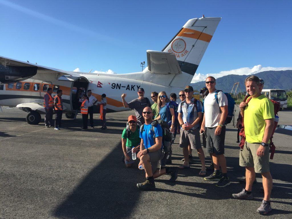 Boarding the plane in Kathmandu!