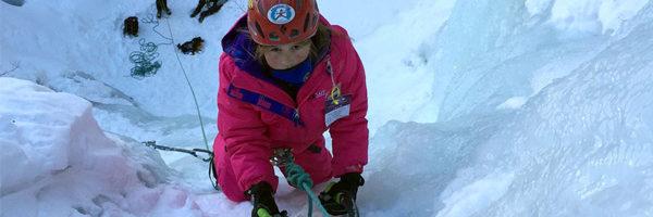 family ice climbing
