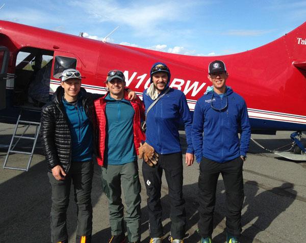 west rib team at airstrip