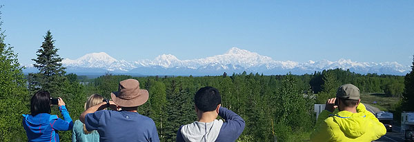 alaska range from overlook