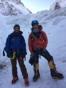 Sherpa Guides in the Khumbu Icefall
