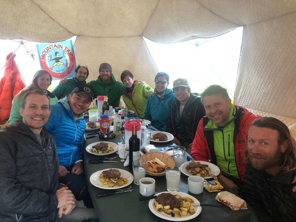 Aconcagua Base Camp Dinner Christmas Eve