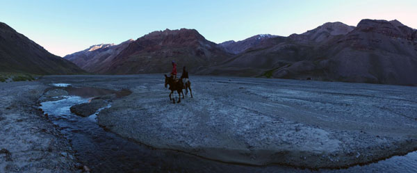 rio vacas mule crossing