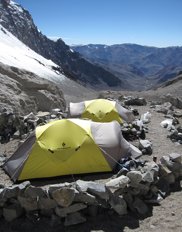 looking east from camp 1 on aconcagua