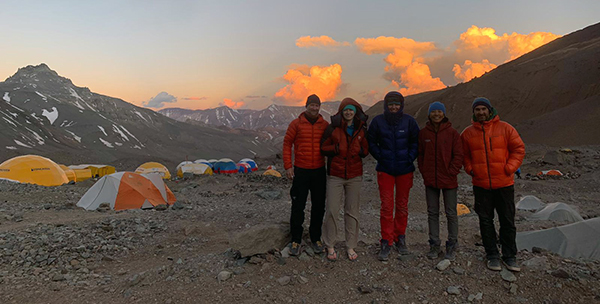 Aconcagua expedition at base camp