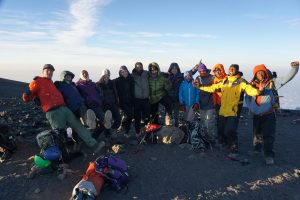 Kilimanjaro Summit Team Photo