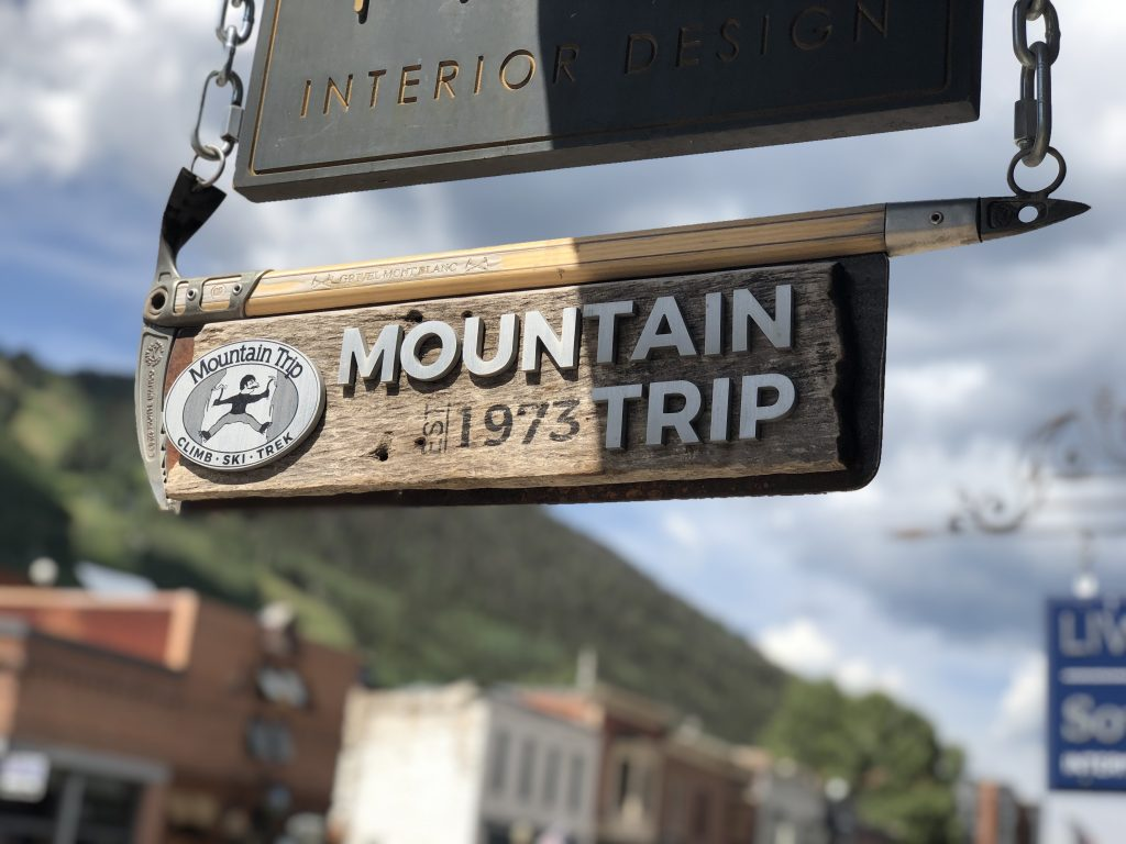 Mountain Trip Sign Telluride, CO