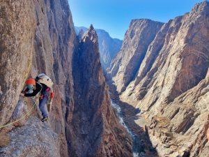 A big, exposed and committing multi-pitch route in the Black Canyon of the Gunnison.